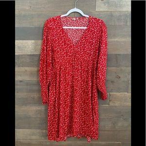 GAP - floral long sleeve babydoll dress